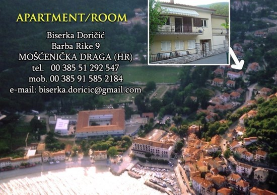 Appartements et chambres Doričić , Moscenicka Draga